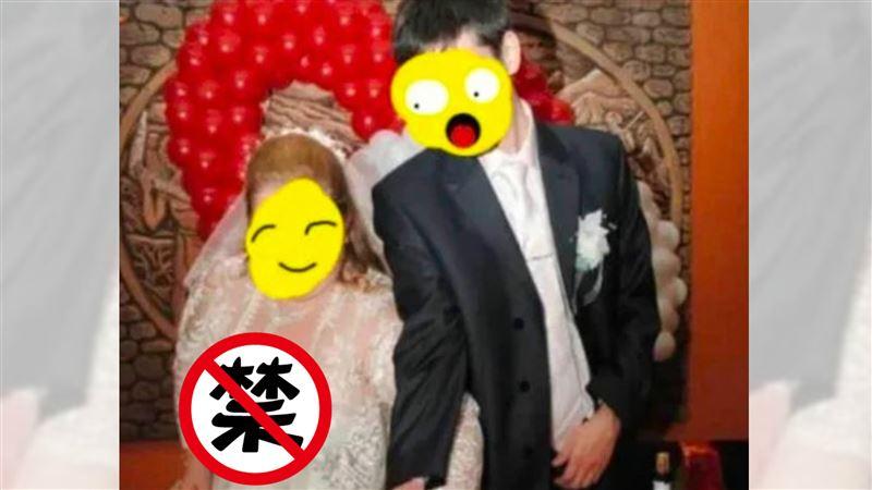 婚禮切蛋糕!新娘「八字奶」炸開禮服…兩粒掉出 賓客傻了