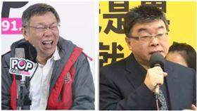台北市長柯文哲,前立委邱毅。