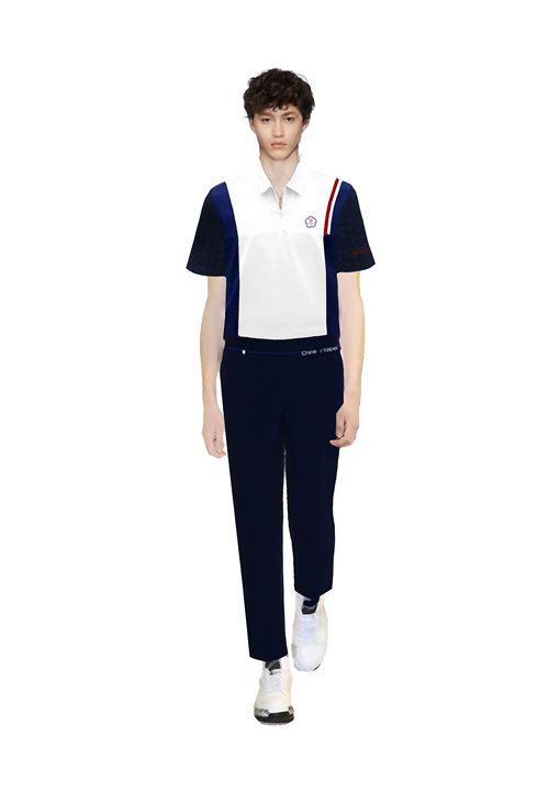 ▲中華台北奧運進場團服與特製的漆器扣。(圖/中華奧會提供)