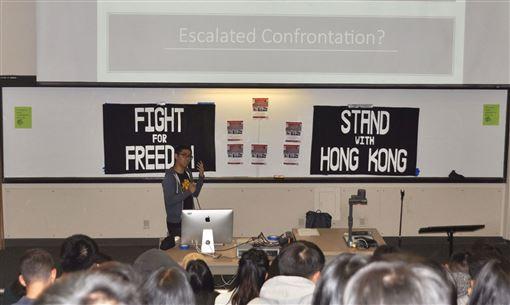 香港,反送中,周永康,衝突升級,看清,候選人立場(圖/中央社)
