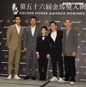 入圍金馬獎最佳男配角演員左至右劉冠廷、段鈞豪、李英銓、許家樂、楊世彬。(記者邱榮吉/攝影)