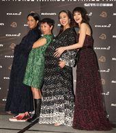 入圍金馬獎最佳女配角演員左至右溫貞菱、陸弈靜、張詩盈、姚以緹。(記者邱榮吉/攝影)