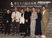 入圍金馬獎最佳導演左至右陳哲藝、林書宇、張作驥、鍾孟宏。(記者邱榮吉/攝影)