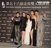 入圍金馬獎最佳女主角王淨(由左至右)楊雁雁、呂雪鳳、李心潔、柯淑勤。(記者邱榮吉/攝影)