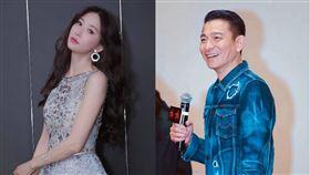 林志玲,劉德華,婚禮,受邀(合成圖/翻攝自臉書)