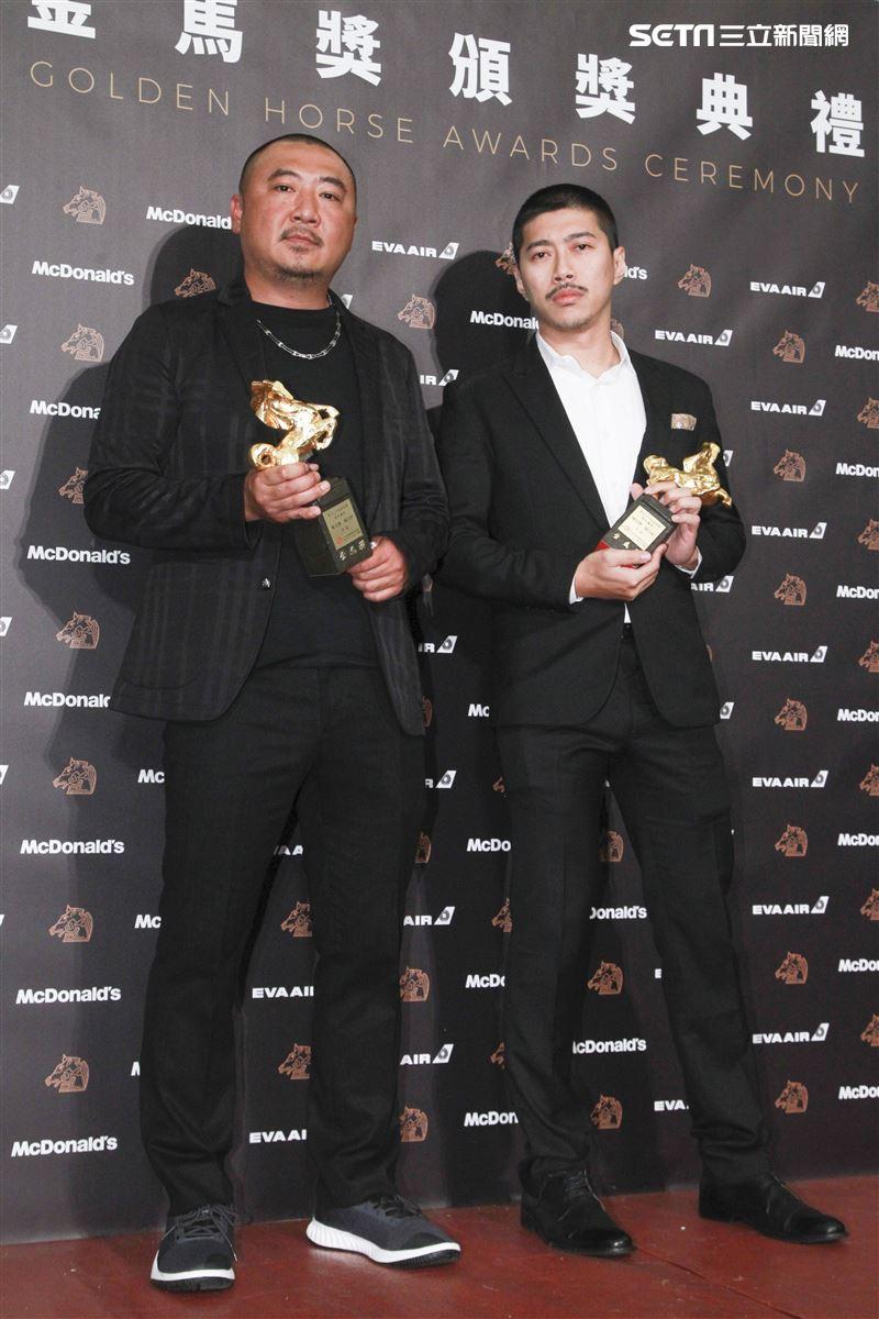 金馬56得獎最佳攝影陳克勤、陳志軒。(圖/記者邱榮吉、林士傑、林聖凱攝影)