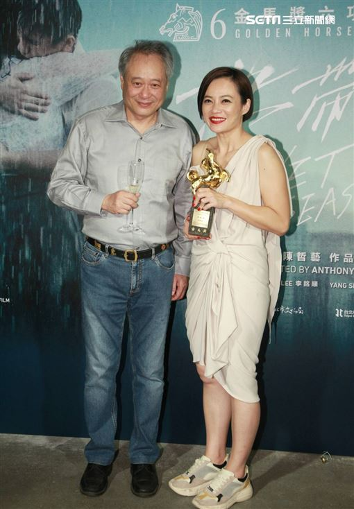 金馬影后楊雁雁,李安,導演陳哲毅,楊世彬和許家樂。(記者邱榮吉攝影)
