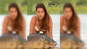 男性,鯉魚,模特兒,月曆,德國,法國,聯想,Carponizer,裸體,拍攝, 圖/翻攝自Carponizer臉書