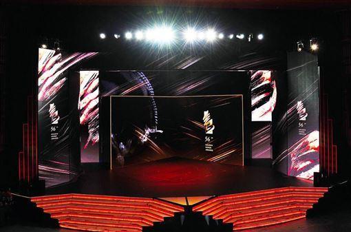 ▲金馬獎華麗的大型旋轉舞台讓人目不轉睛。(圖/金馬執委會提供)