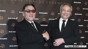 金馬56得獎導演李安、王童。(圖/記者邱榮吉、林士傑、林聖凱攝影)