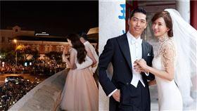 林志玲和AKIRA世紀婚禮。(圖/翻攝自臉書)