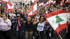 黎巴嫩抗議 圖/美聯社/達志影像