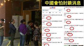 香港人民投票,中國封鎖選舉結果, 組合圖