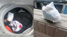 洗完衣服偶爾會在洗衣機裡發現驚喜,有時候襪子會莫名少一隻、衣物出現一片雪花才想起口袋裡的衛生紙被遺忘,幸運一點的可能會發現意外之財。有名網友日前洗完衣服後把洗衣機掀開,沒想到迎接她的不是驚喜而是「驚嚇」,仔細一聞一股臭味撲鼻而來,發現裡面出現一包「大白球」,讓她秒回神原來是姪子的尿布,且還保存得相當完整,網友見狀全歪樓「跪求品牌」。(圖/翻攝自爆廢公社)