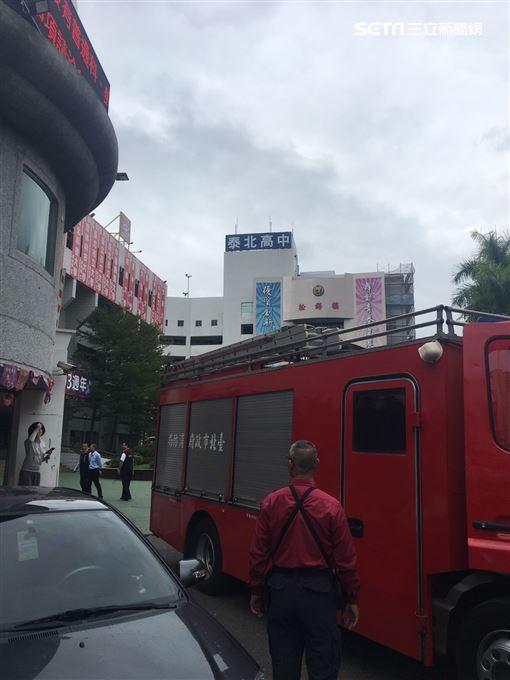 台北市泰北高中驚傳學生墜樓(翻攝畫面)