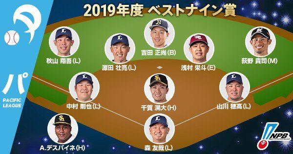 日本職棒最佳九人獎項得主。(圖/翻攝自NPB推特)