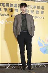 2019新加坡電視影匯市場展行前記者會《違反校規的跳投》演員范姜彥豐。(圖/記者林士傑攝影)