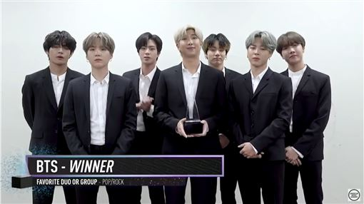 泰勒絲,BTS(翻攝American Music Awards YouTube)
