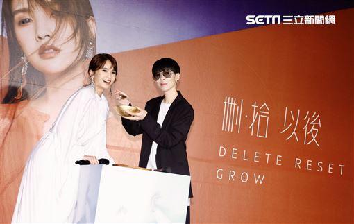 陳珊妮出席楊丞琳專輯發表會。(圖/記者林聖凱攝影)