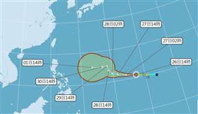 「北冕」生成 恐大又強!颱風論壇:有挑戰強烈颱風的實力,圖/翻攝自中央氣象局官網