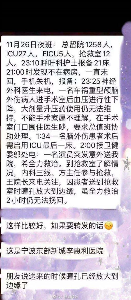 高以翔/翻攝自八組日報社微博