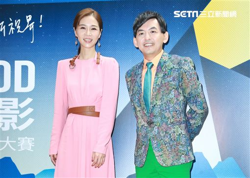 黃子佼與謝盈萱參與頒獎典禮。(圖/記者林士傑攝影)