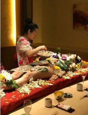 女體盛,台中,裸女,海鮮,日本,日式料理