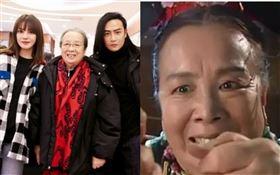 趙薇監製兼主演的新片《兩隻老虎》27日在北京舉行首映。《還珠格格》演員「容嬤嬤」李明啟、蘇有朋、陳志朋出席助陣。翻攝微博