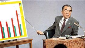 日本前首相中曾根康弘去世,享嵩壽101歲。圖為中曾根康弘1985年4月在新聞發布會上談市場開放措施。(共同社提供)
