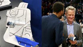 NBA/打爆戰術板!飆血柯爾講幹話 NBA,金州勇士,Steve Kerr,戰術板 翻攝自推特