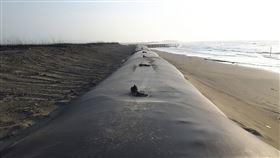 台南市,海岸遭侵蝕,復育,沙洲潟湖,有成效(圖/台南市政府提供)中央社