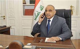 伊拉克反政府暴力抗爭延燒數週,總理馬帝29日表示將請辭讓國會選出新內閣。(圖取自twitter.com/iraqipmo)