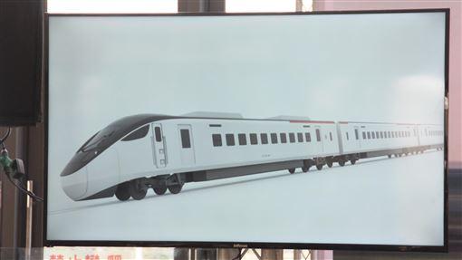 台鐵新購城際列車外型亮相台鐵新採購的600輛城際列車30日在花蓮火車站公布新車設計,以黑白簡約風格亮相。(翻攝照片)中央社記者張祈傳真 108年11月30日