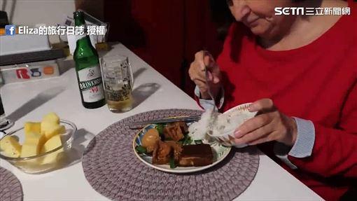 婆婆也吃得津津有味。(圖/Eliza的旅行日誌臉書)