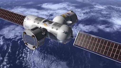 Orion Span創辦人邦格表示,2024年前打算帶第一批遊客進住該公司的太空旅館Aurora Station。圖為該計畫模擬圖。(圖取自facebook.com/OrionSpanInc)