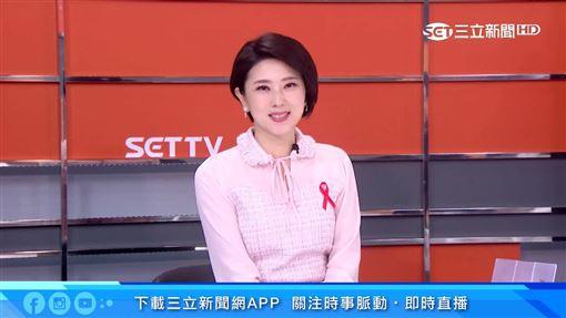美女主播許貴雅主持節目胸口別「紅絲帶」 原因暖哭觀眾