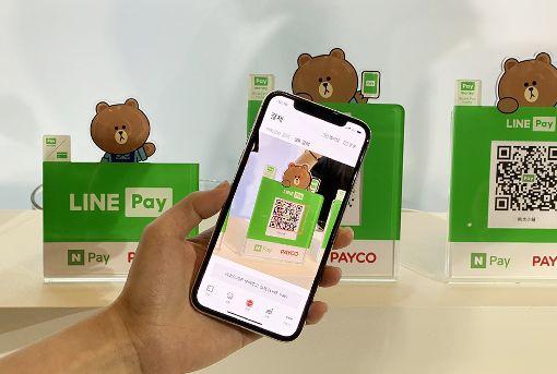 LINE Pay在台啟動跨境支付行動支付服務LINE Pay與一卡通3日宣布結盟國際支付品牌,成立行動支付跨境聯盟,將在台灣推出全新跨境支付服務。中央社記者吳家豪攝  108年12月3日