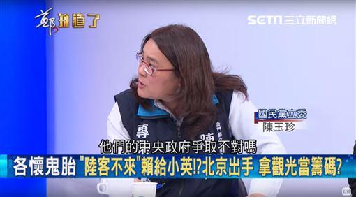 陳玉珍上節目稱北京「中央」