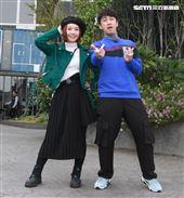 陳漢典、Lulu錄製「綜藝大熱門」特別節目「大熱門過年公寓3.0」。(記者邱榮吉/攝影)