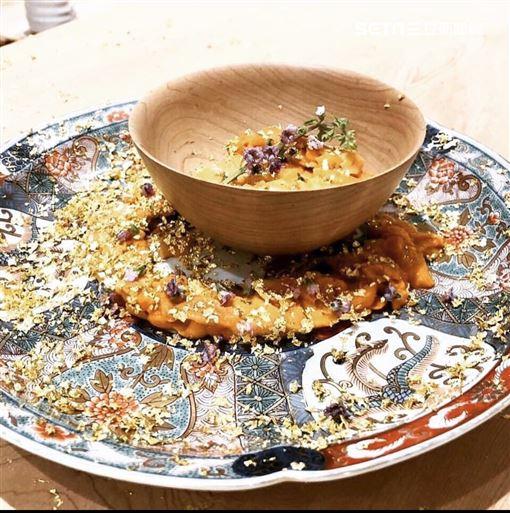 金箔,生魚片