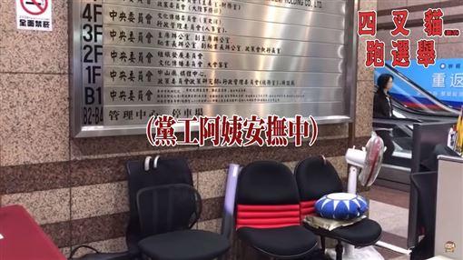 這次不數椅子!四叉貓入韓國瑜場子 一招讓韓粉直播主抓狂(圖/翻攝自劉宇臉書)