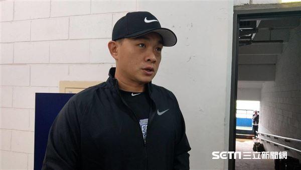 彭政閔出席NIKE訓練營。(圖/記者王怡翔攝影)