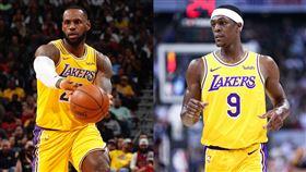 NBA/詹皇、朗多助攻上雙!湖人勝 NBA,洛杉磯湖人,LeBron James,Rajon Rondo,猶他爵士 翻攝自推特