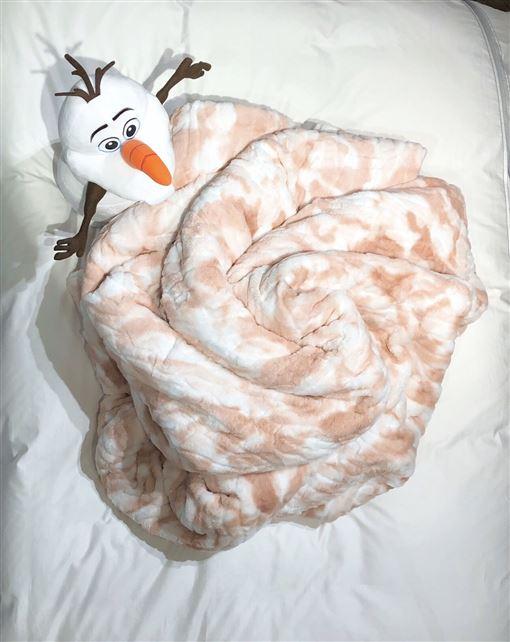 毛毯長得太像松阪豬肉引發討論潮。(圖/翻攝自粉絲團)