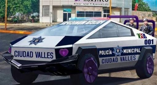 ▲墨西哥特斯拉警車Cybertruck預想圖(圖/翻攝Carscoops)