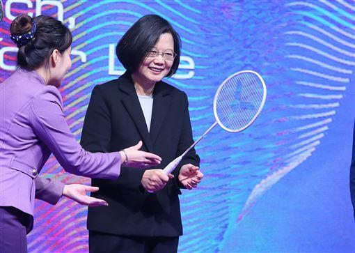 2019未來科技展,蔡英文,肯定,台灣實力,媲美國際(圖/中央社)