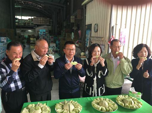 屏東東港鎮,3寶,推廣,香瓜,哈密瓜(圖/農糧署提供)中央社