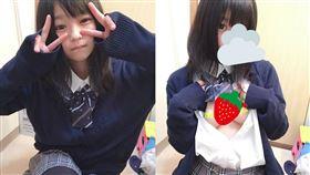 不是小孩子!日本18歲小美女 萌萌臉蛋身材「超暴力」 合成圖/翻攝自推特