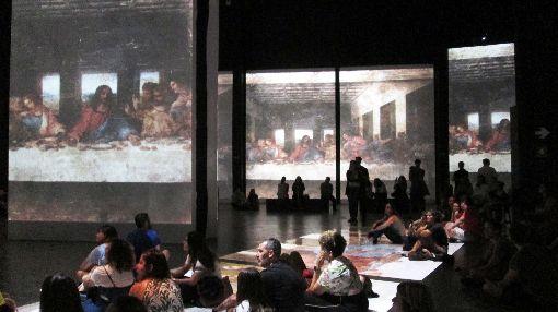 天才達文西巴西特展:聲光藝術體驗巴西聖保羅影音博物館舉辦「天才達文西逝世500週年紀念特展」,引人入勝的聲光藝術體驗,讓人深度沉浸、流連忘返。圖為11月23日攝。中央社記者唐雅陵聖保羅攝 108年12月7日