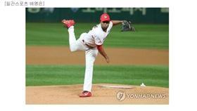 ▲Angel Sanchez過去兩年在韓國職棒活躍。(圖/截自韓國媒體)
